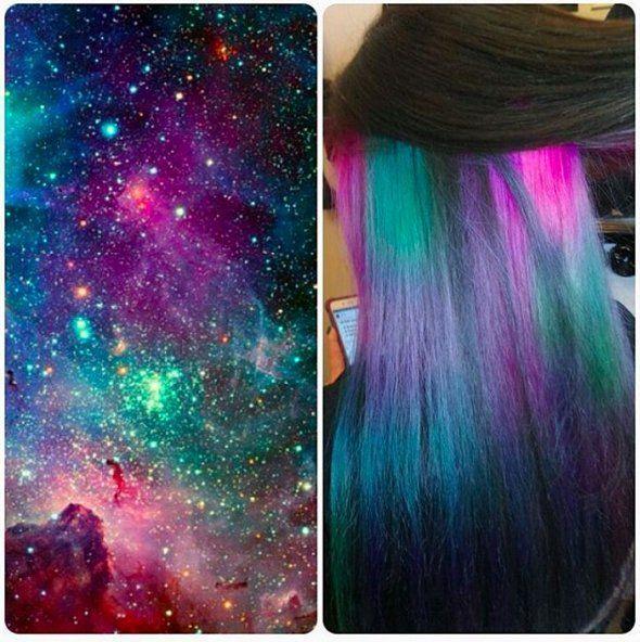 Trick dein konservatives Büro mit diesem Underlights Rainbow Hair Trend  #diesem #konservatives #rainbow #trend #trick #underlights