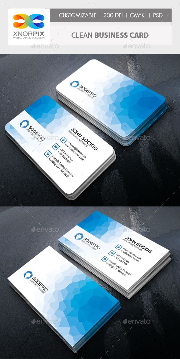 Clean business card business cards card templates and corporate clean business card by axnorpix features 20adobe photoshop cs4 version reheart Gallery