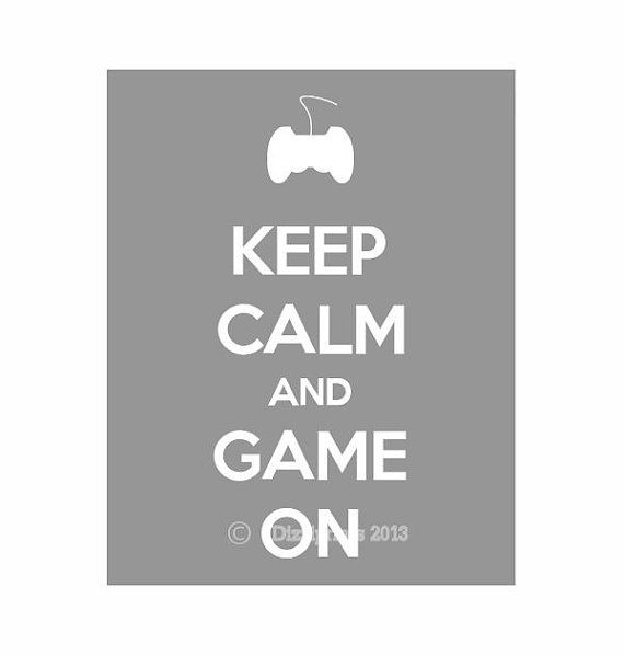 Garder calme et jeu sur, Keep Calm, Gaming, Keep Calm Poster, gris, jeu vidéo