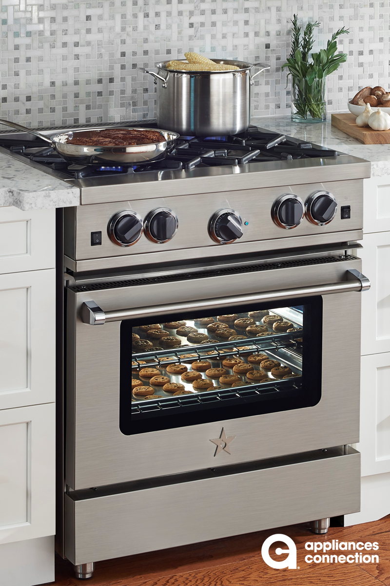 Platinum Series From Bluestar 24 Inch Freestanding Gas Range With 4 Burners Griddle Convection Oven C Tiny House Appliances Kitchen Design Kitchen Cabinetry