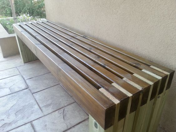 Image result for rugged outdoor wood bench with back front yard