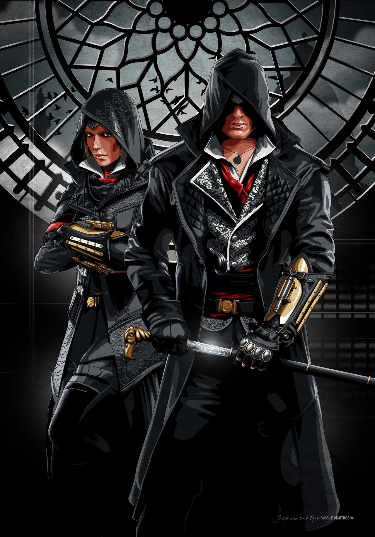 Jacob And Evie Frye London 1868 Assassins Creed Art Assassins Creed Syndicate Assassin S Creed