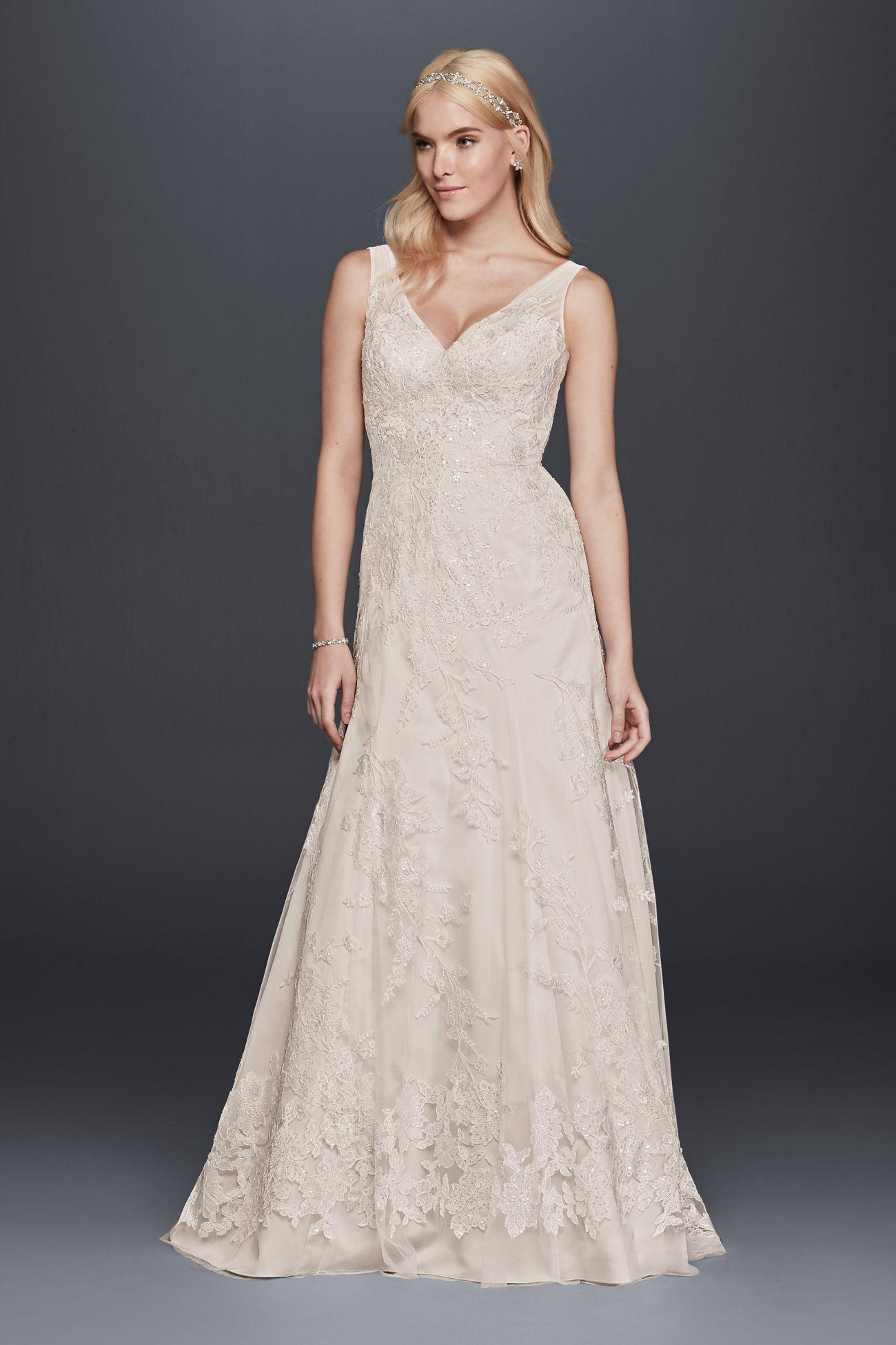 My New Favorite! www.davidsbridal.com/10733387 | manic pixie wedding ...