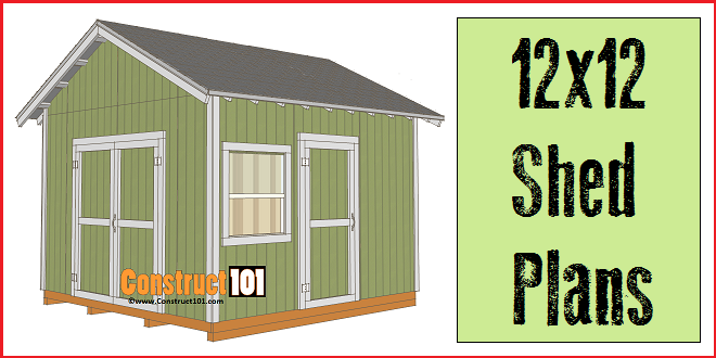 Merveilleux 12x12 Shed Plans   Gable Shed   Construct101   Free PDF Download