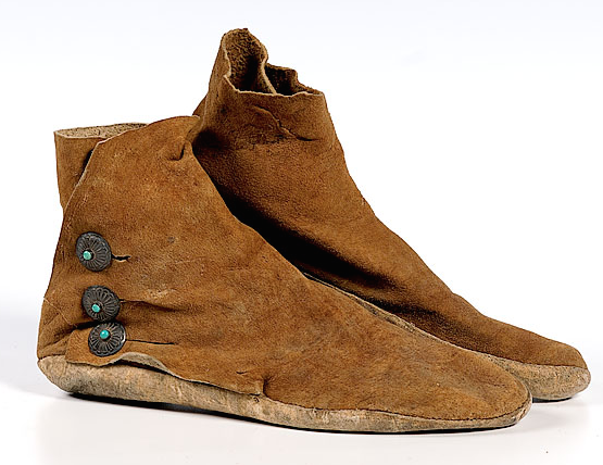 Earthing Shoes Men/'s Rust Navajo Style No Button Thick Sole Moccasins