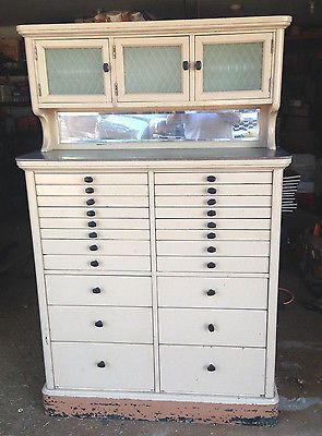 Dentist Antique Early 1900's Dental Cabinet 22 Drawer American ...