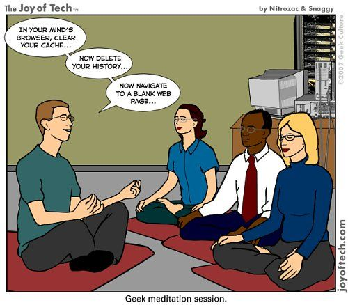 A light hearted message about meditation which is part of our holistic approach to recovery shared by Sage Recovery & Wellness Center in Austin, TX. Image source: http://fumaga.com/5176