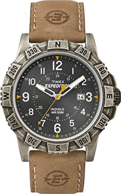 Timex Leder Armbanduhr Analog Herren Quarz T49991Uhren j35R4ALq