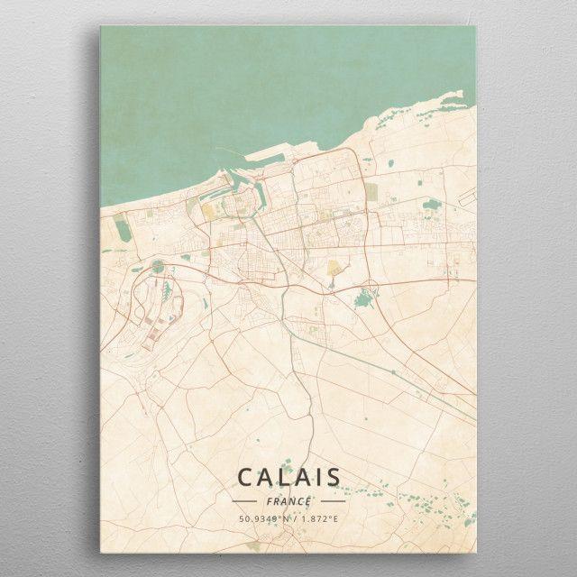 Calais France Map on