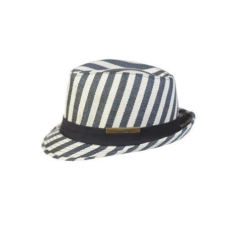 Women's EMBRACE THE Hat - Look fashion-forward and effortlessly cool in this Derby-inspired Embrace the Hat. Match easily to any casual outfit with woven stripes all around and a solid-colored cotton canvas band.