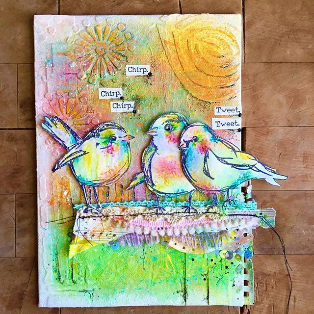 @dinawakley's Scribbly Birds always make me smile BIG☺️😄😃 art in this months…