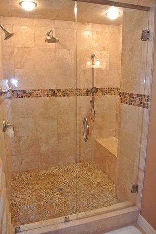 Contemporary Full Bathroom with Ms international philadelphia 12 in ...