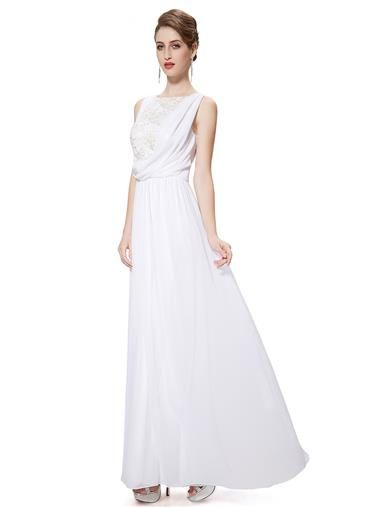 Ever Pretty Elegant White Lace Bodice Wedding Evening Dress