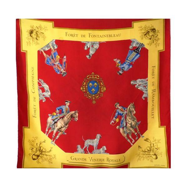 Foulard Carré en Soie, pas cher, sjaal, scarpa, seidentuch, seda, hermès, Grande  Venerie Royal 6d951aebf2a