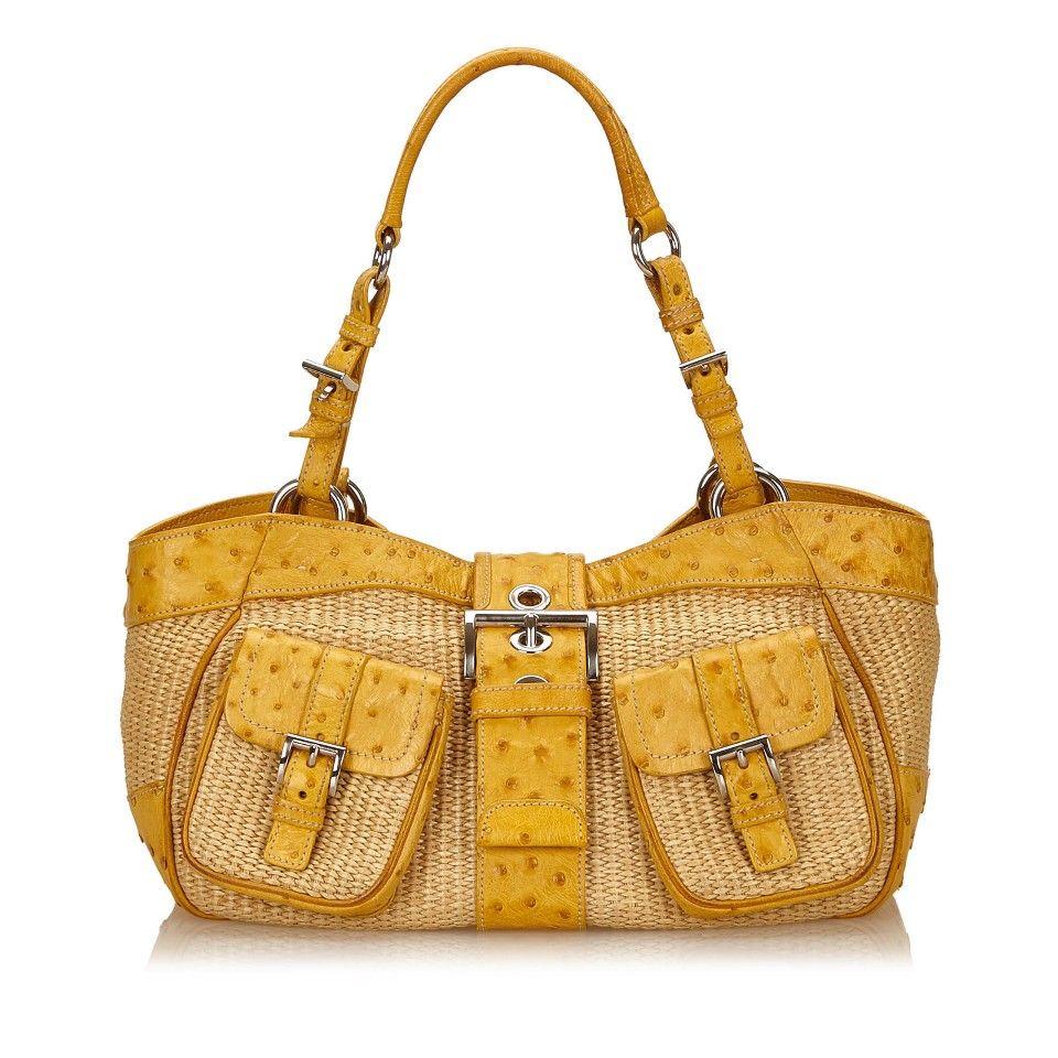 1e54ffebd21a Prada Straw Shoulder Bag. Prada Straw Shoulder Bag Second Hand ...