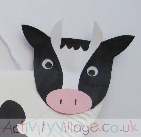 Paper plate cowu0027s head - use as a guide for cutting and colouring | craft | Pinterest | Cow Cow craft and Craft & Paper plate cowu0027s head - use as a guide for cutting and colouring ...