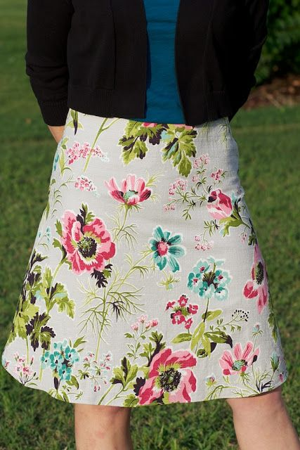 Sew Spoiled: How to Line an A-Line Skirt Tutorial | Sewing projects ...