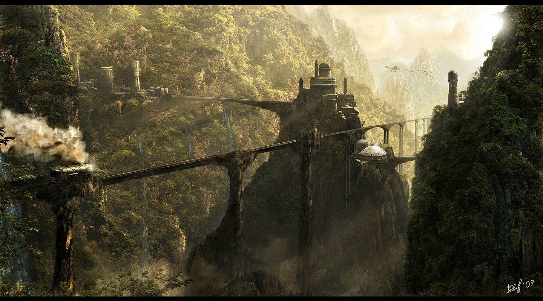 fantasy landscapes | fantasy landscape wallpaper/background 1440 x