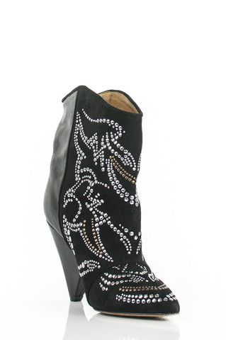 Isabel Marant Studded Suede Ankle Boots Own The Couture Rock