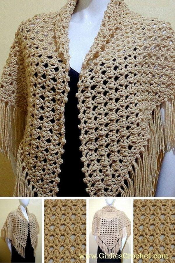 30 Great Crochet Shawl Patterns | Cachecol, echarpe, poncho ...