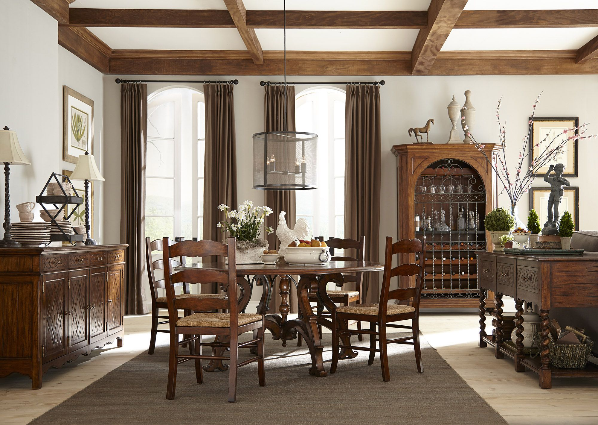 Scarborough House Fine Furniture | Padfoot Dining Table With Arm And Side  Chairs