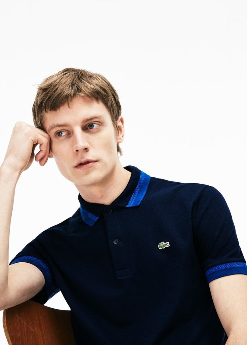 046f70d522 Lacoste - Slim Fit Contrast Accents Stretch Pima Piqué Polo in 2019 ...