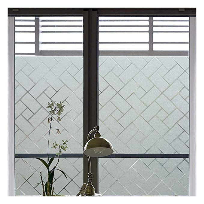 Coavas Non-Adhesive Window Film Stained Glass Window Film