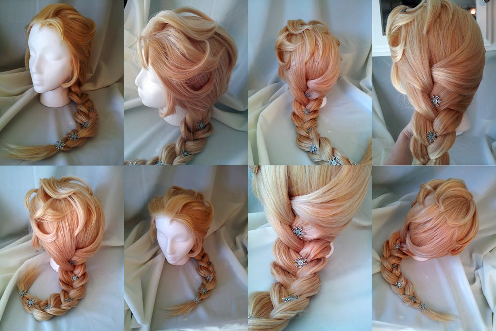 Character wig elsa from frozen complete lace front high