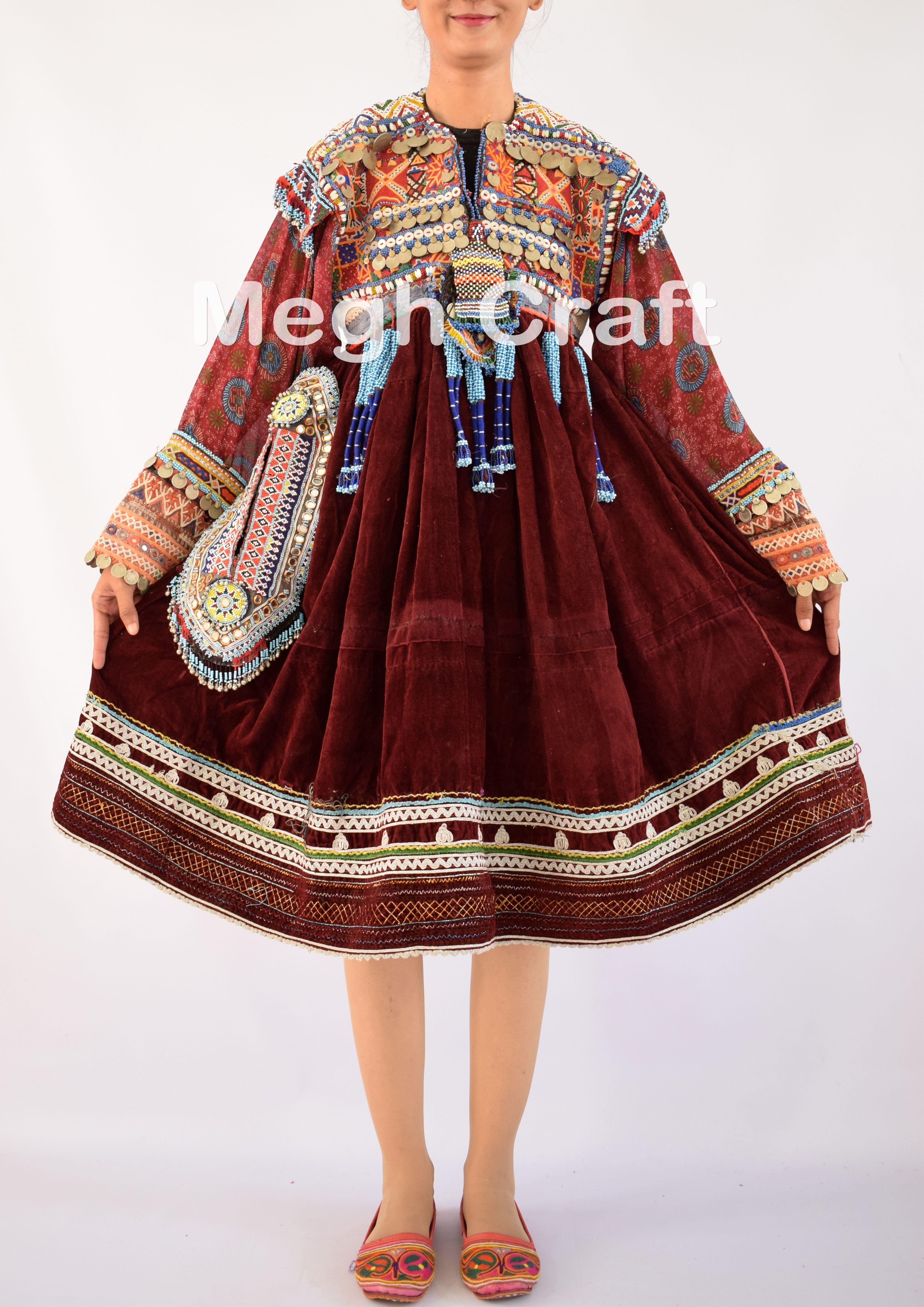 14982b592fb Afghani Dress - Vintage Coins Dress -Woman Fashion Beaded Embroidered Dress  -Kuchi Dress BY#craftnfashion #meghcraft #vintagecraft#indiancrafts# ...