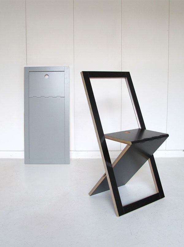 Cool Design...The VM Chair Looks Like A Simple Wooden Plank When Folded