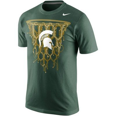 Nike Michigan State Spartans Net T Shirt Green Basketball T Shirt Designs Michigan State Clothes Michigan State Spartans