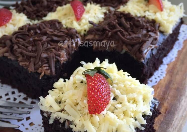Resep Eggless Chocolate Cake No Mixer Oleh Fitri Sasmaya Resep Kue Cokelat Kue Resep