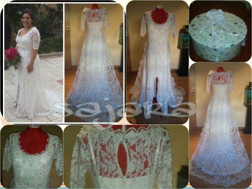 Vestido de novia, Diseñado y realizado de una forma artesanal