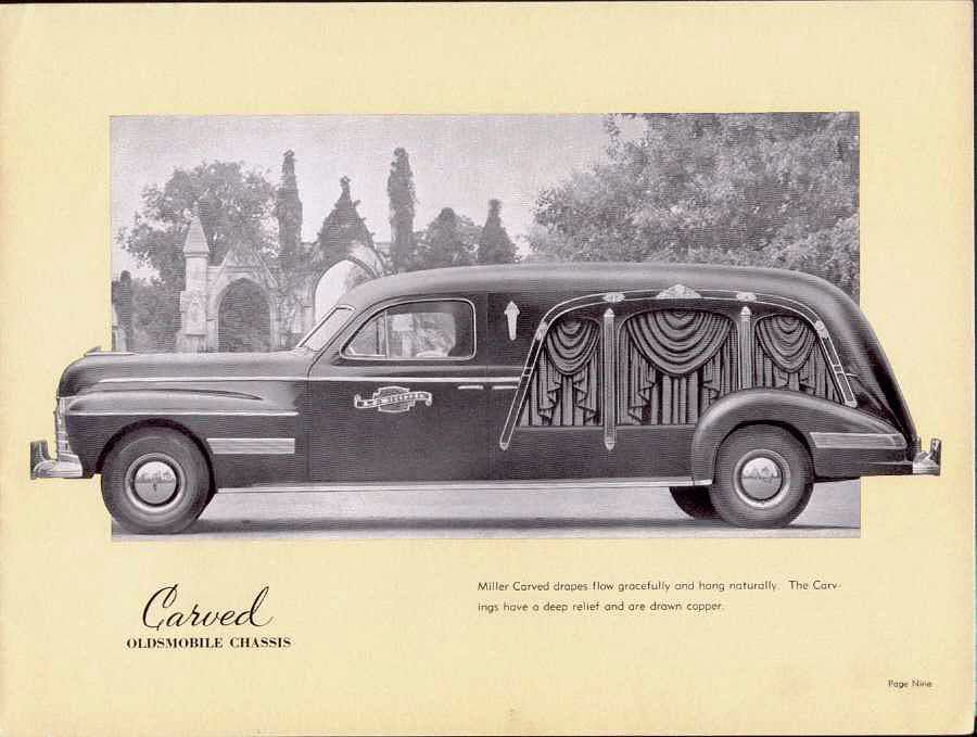 1941 Miller Oldsmobile Carved Hearse