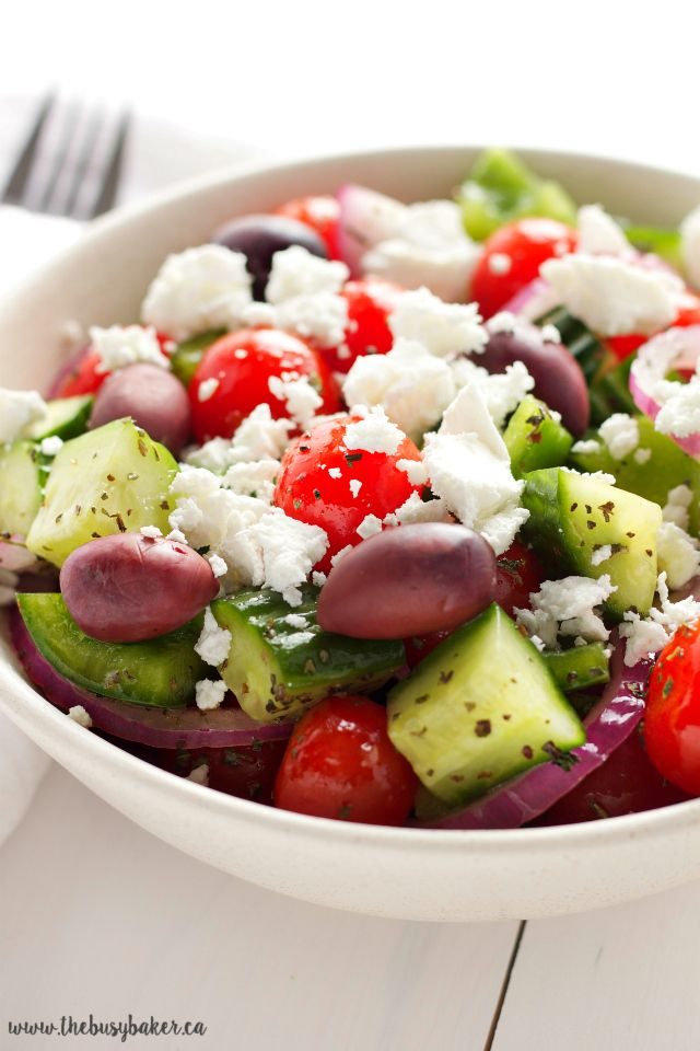 Quick And Easy Greek Salad Recipe Easy Greek Salad Recipe Greek Salad Greek Salad Recipes