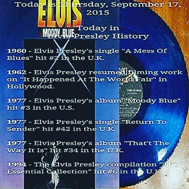 Today In Elvis Presley History Elvis Presley Elvis History