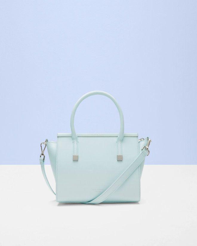 42cf9b6b17d12 Crosshatch leather tote bag - Mint