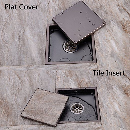 Shower Drain with Tile Insert Grate