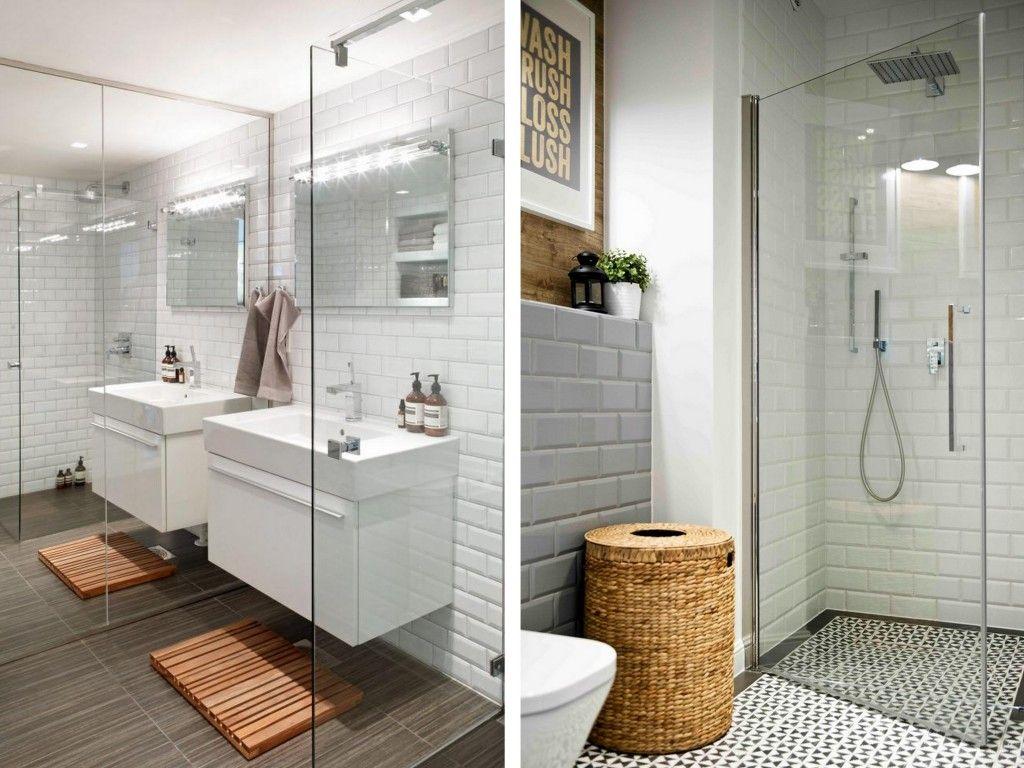 Carrelage Metro Blanc Joint Gris 15 salles de bains avec du carrelage métro | inspiration