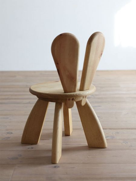 Easter furniture bunny chair by hiromatsu bunny easter for Baby chair design