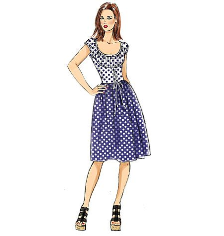 from gertie for butterick a ruched corsetstyle dress