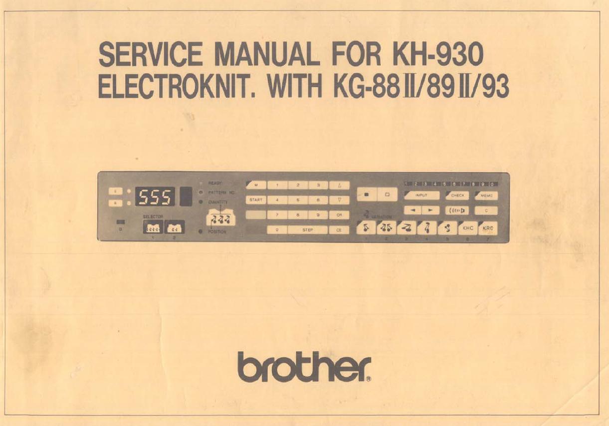 brother kh930 service manual machine knitting pinterest rh pinterest com KRC Block and Brick KRC Block and Brick