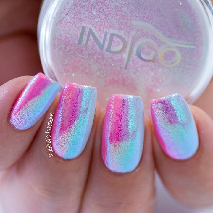 unicorn nails - vertical gel polish