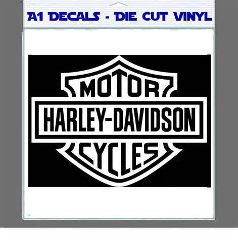 Harley Davidson Logo Outline Harley Davidson Decal Sticker - Stickers for motorcycles harley davidsons