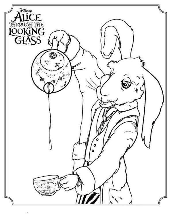 Kids-n-fun | Coloring page Alice Through The Looking Glass White ...