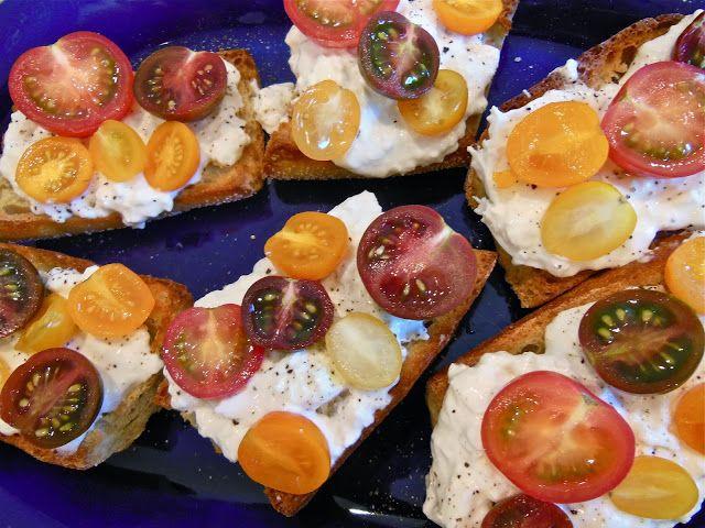 Burrata and Heirloom Tomato Crostini