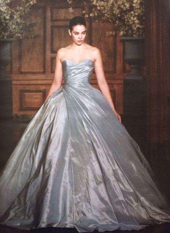 Metallic-silver-strapless-gorgeous-ball-gown-pricness-dress ...