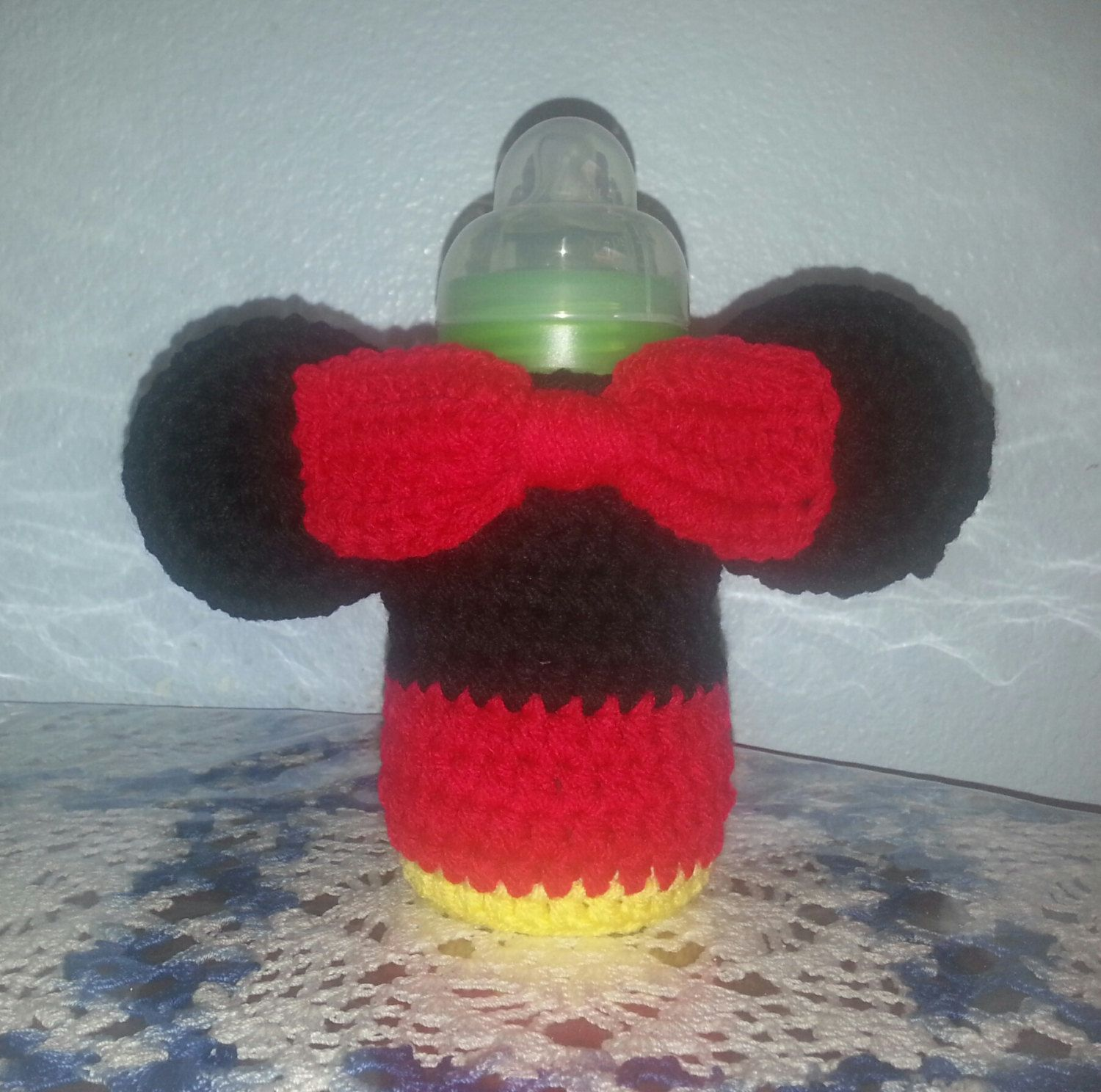 Minnie baby bottle cover