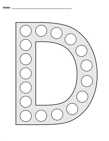FREE Letter D Do-A-Dot Printables - Uppercase & Lowercase ...