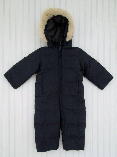 fca1443c4 Baby Gap 6-12 Months Boys Navy Blue Fur Trimmed Snow Suit Down ...